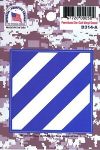 US-ARMY-3RD-INFANTRY-DIVISION-PREMIUM-DIE-CUT-VINYL-STICKER-MADE-IN-THE-USA