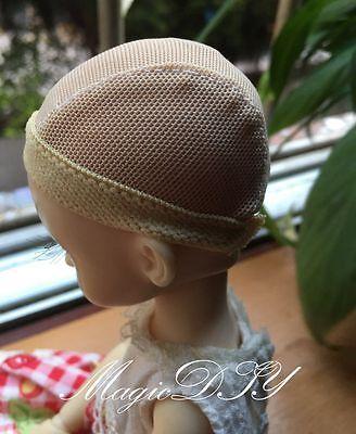 Hairnet Headgear Beige Cap DIY Wig//Hair For 1//4 BJD Dolls MSD AOD DOD