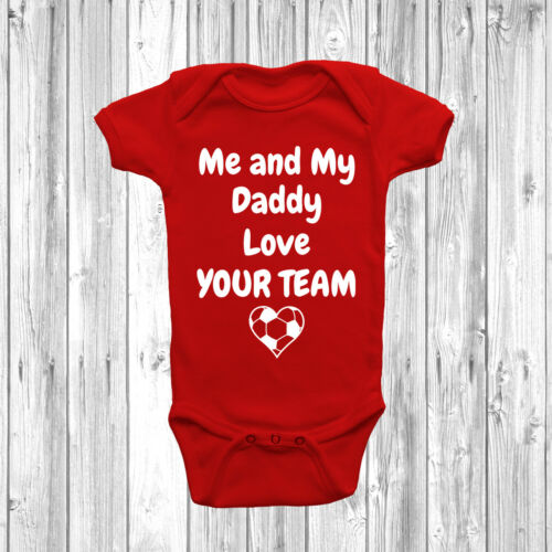 Personalised Me And My Daddy Love Baby Grow Vest Funny Any Team Clothing