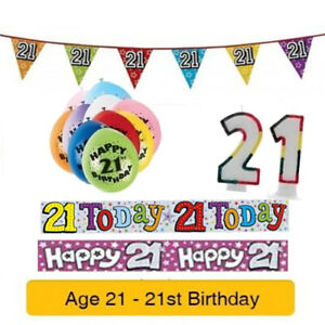 Age-21-Happy-21st-Birthday-Party-Balloons-Banners-amp-Decorations