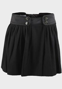 Ladies Black Short Mini Smart Casual Formal Circle Flared Skirt Size 6 12 14 NEW
