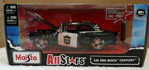 Maisto-55-Buick-Century-Highway-Patrol-1-24-Scale-Diecast-All-Star-Police-Car