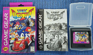USED-Sonic-Drift-2-Sega-Game-Gear-1995-COMPLETE-With-BOX-and-Manual