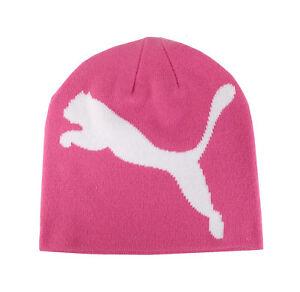 11c95214f1d Puma Men Women Unisex Beanie Hat Cap Bright Pink White Cat Teamsport ...