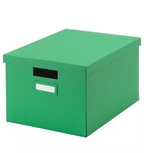 Details About New Ikea Box With Lid Green Living Room Storage Paper Media