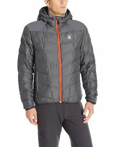 BNWT Spyder Geared Hoodie Synthetic Down Jacket Size Medium Anthracite - Fleetwood, United Kingdom - BNWT Spyder Geared Hoodie Synthetic Down Jacket Size Medium Anthracite - Fleetwood, United Kingdom