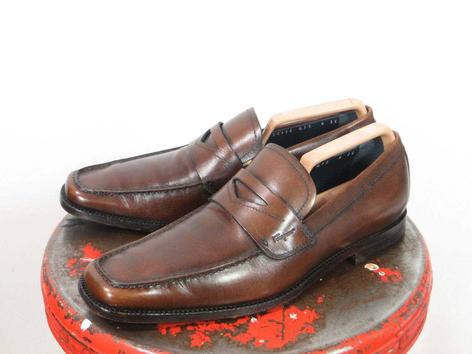 Salvatore Ferragamo    Braun penny loafers Herren dress schuhe 6 EE e6a7b9