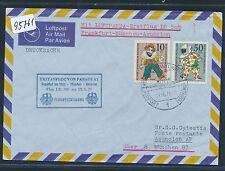 95761) LH FF München - Paraguay 13.5.71, Brief ab Berlin, MiF Wofa