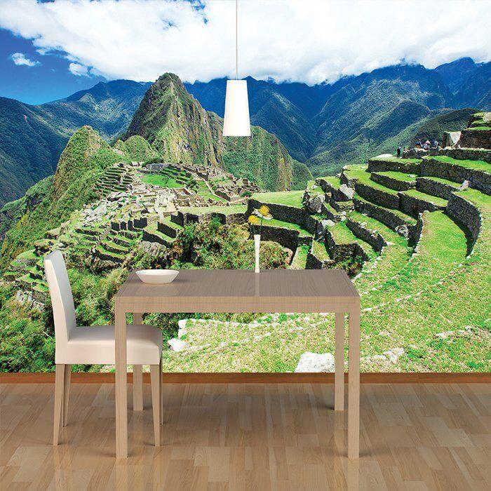 Machu Perú Picchu Fotomurales Paisaje de montaña verde Papel Pintado Perú Machu Decoración 33ce82