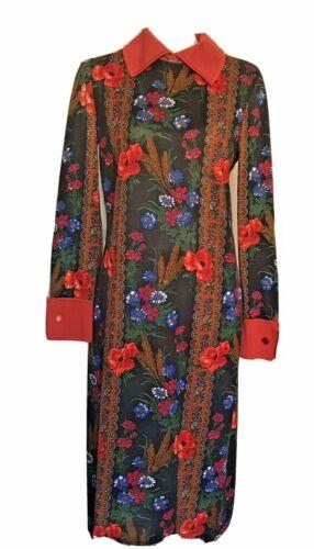 Vintage Italian 1960s Goldworm Novelty Print Dress