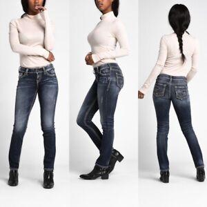 Silver-Suki-Mid-Rise-Straight-Leg-Jeans-33-X-32