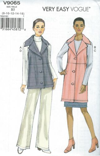 Skirt and Pants    Sewing Pattern Vogue 9065 Misses/' Vest