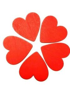 Details about Large Wooden Hearts Red Card Crafts Gift Tags Valentines Love  MDF 5cm