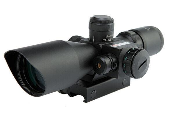 NightStar alcance de 2.5-10x40 Con Laser Rojo