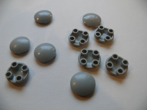 10 old light gray plate round Lego 10 plates rondes lisses set 6991 6175 6160