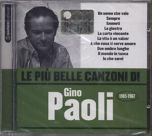 GINO-PAOLI-Le-piu-039-belle-canzoni-di-1965-1967-CD-2007-SIGILLATO-SEALED