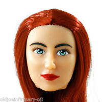 Fembasix Cg Cy Girl Lia Female Figure Head Red Hair Fair Skin 1:6 Scale