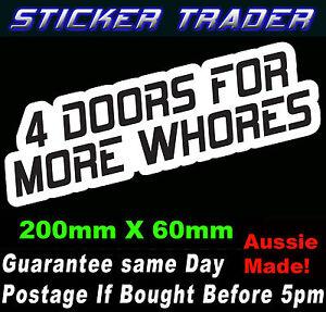 4-DOORS-FOR-MORE-WHORES-JDM-STICKER-FUNNY-HOON-DRIFT-RACE-DRAG-CAR-WINDOW-BOMB