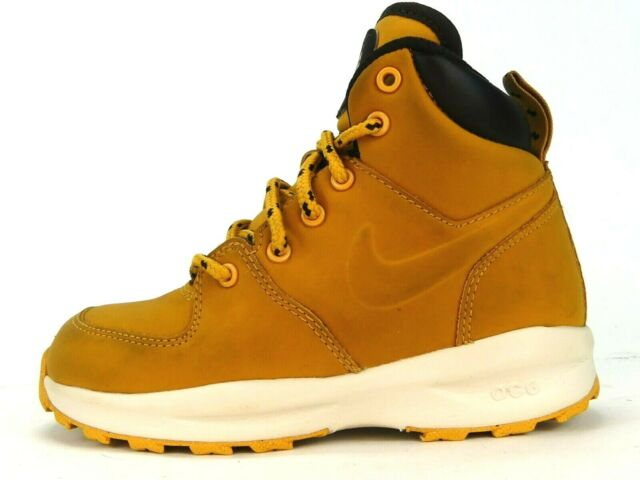Nike ACG Manoa Leather 'Haystack' Water Resistant Sneaker Boots Boys Size 11C