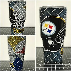 Details About Yeti 20 Oz 30 Oz Custom Pittsburgh Steelers Wrapped Cup Rambler Tumbler