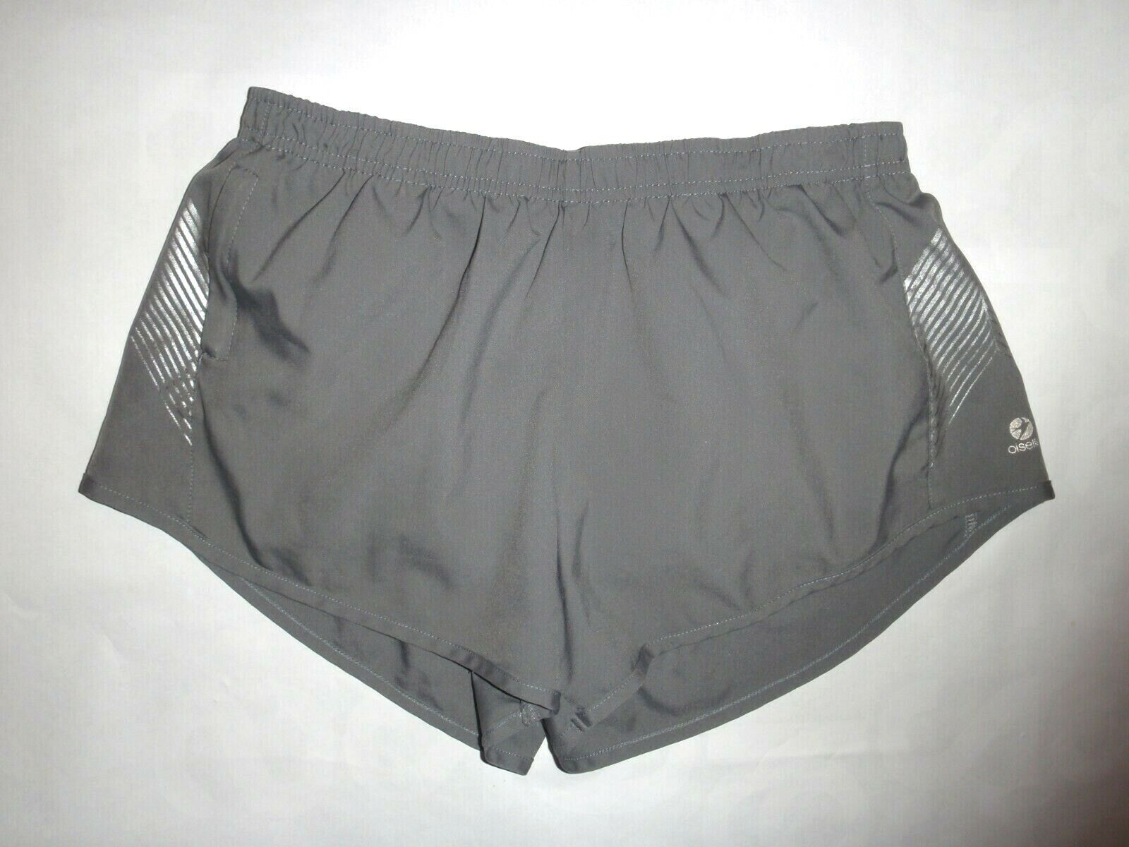 Oiselle women's gray athletic running shorts see measurements