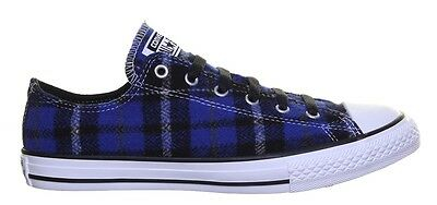 Boysgirls Converse Chuck Taylor All Star Ox trainers shoes plaid tartan Blue | eBay