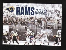 2013 St Louis Rams Schedule