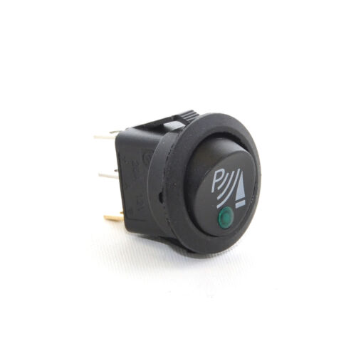 5 x 12V P ILLUMINATED ROUND ROCKER SWITCH IDEAL FOR FRONT PARKING SENSORS 3-PIN