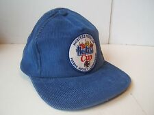 Hostess Cup Frito Lay Patch Hat Blue Corduroy Pee Wee Hockey Snapback Cap