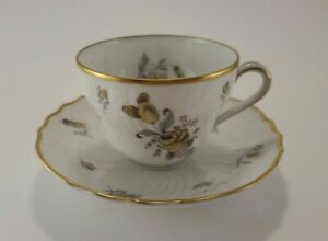 Antique Hutschenreuther Pasco Saxony Demitasse Cup & Saucer Dresden Germany