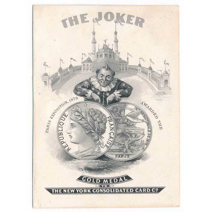 New York Consolidated Card Co. Joker Die Proof 1878