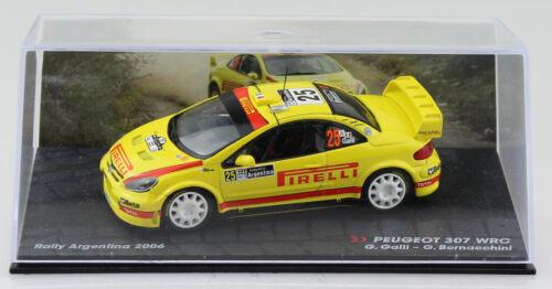 Peugeot 307 wrc rally 2006 #25 1:43 IXO//ALTAYA voiture miniature//les-Cast