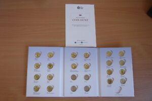 """* Une Livre Britannique Coin Hunt Album De La Monnaie Royale-monnaies Non Inclus""""-afficher Le Titre D'origine Ie9jxogk-08002400-863985508"""