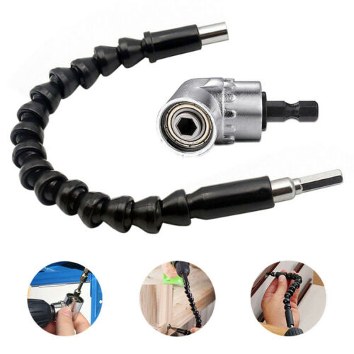 """3X 105Degree 1//4/"""" Right Angle Drill Adapter Hex Shank Screwdriver Flexible Shaft"""