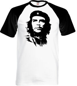 Che-Guevara-Face-Silhouette-Herren-Iconic-Baseball-T-Shirt-Freedom-Fighter-Kuba