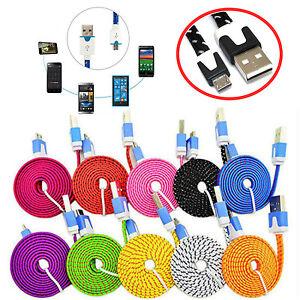 CABLE-TRENZADO-USB-MICRO-USB-PARA-SAMSUNG-HTC-DATOS-CARGADOR-COLORES-1M-2M-3M