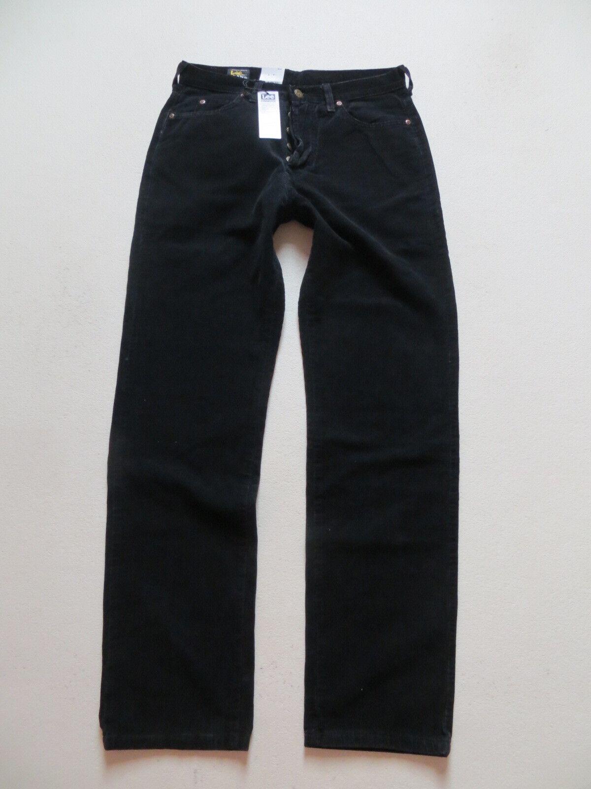 Lee CHICAGO Cord Jeans Hose W 31  L 32 schwarz NEU   Cordhose mit Knopfleiste