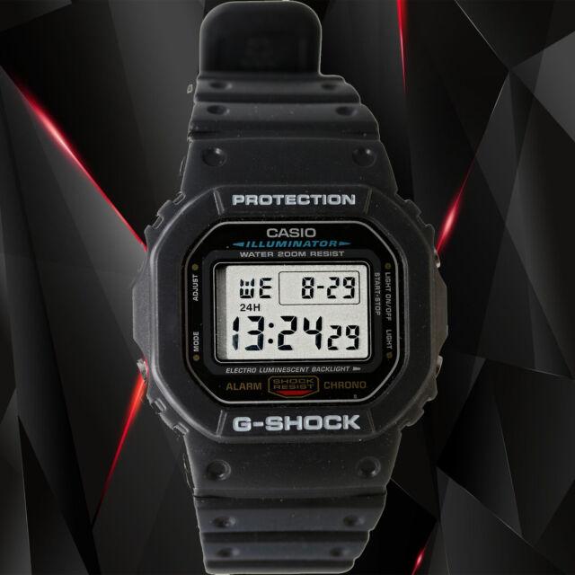 Casio DW-5600E-1V G-SHOCK Mens Black Digital Watch Classic Shock Resistant New