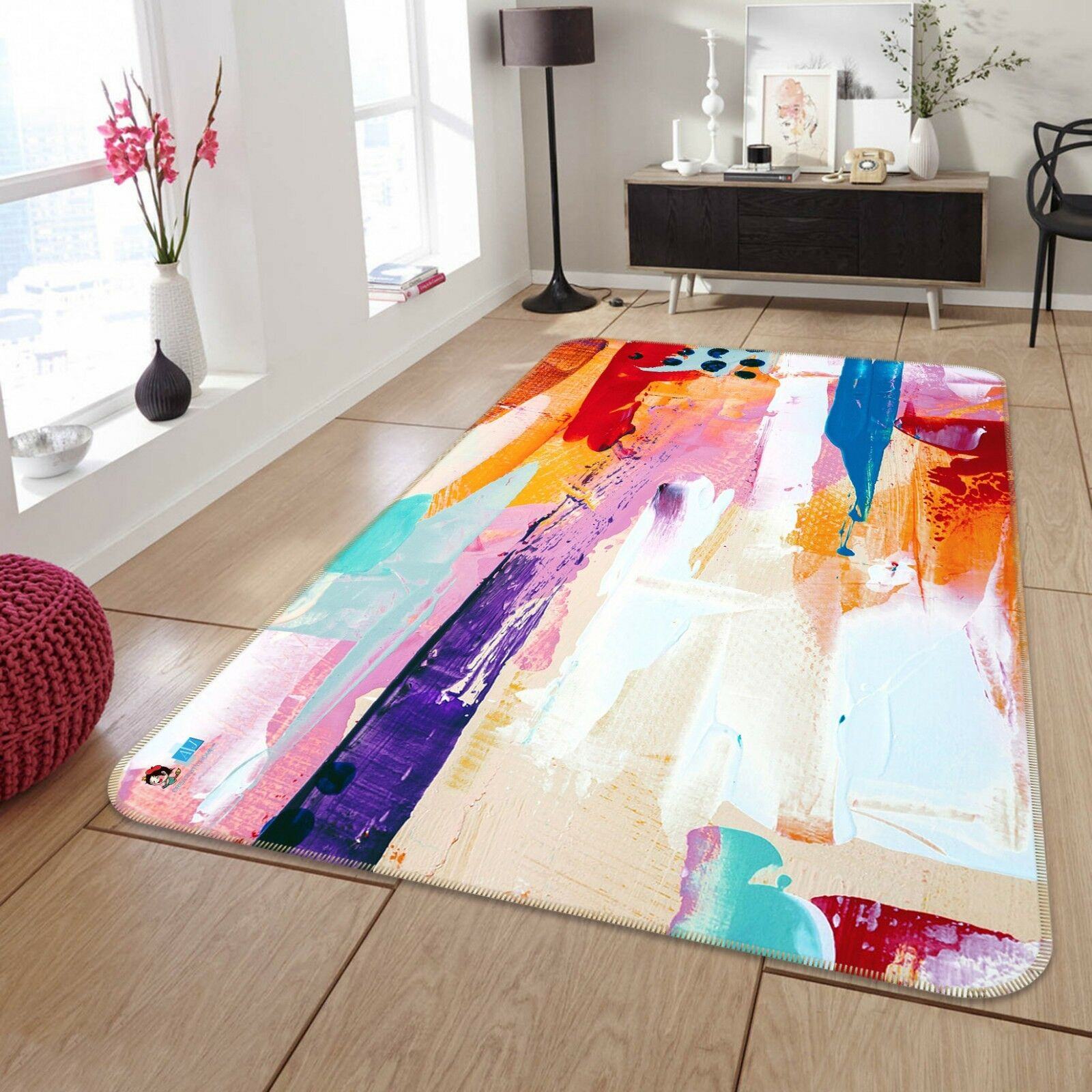3d Color graffiti 8 antideslizante alfombra maletero calidad elegante alfombra de