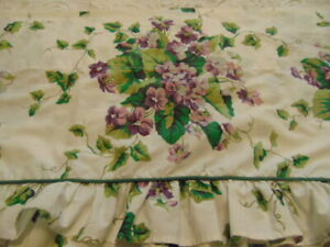 Waverly Valance Sweet Violets Purple White Green Ruffle