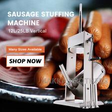 New Hakka 25lb Sausage Stuffer 2 Speed Vertical Stainless Steel 12l Meat Fillers