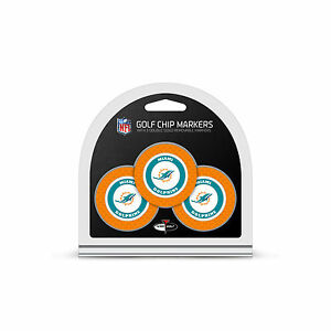 cc7f3836 Details about NFL Miami Dolphins 3 Pack Golf Ball Markers Poker Chip Enamel  2 Sided