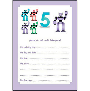 Image Is Loading 10 Childrens Birthday Party Invitations 5 Years Old