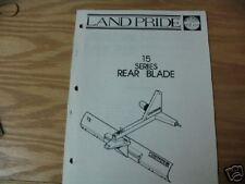 Land Pride 15 Series Rear Blade Operator Amp Parts Manual