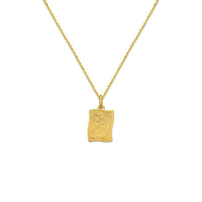 14K Yellow Gold Jade Gemstone Charm Pendant For Necklace or Chain Ioka