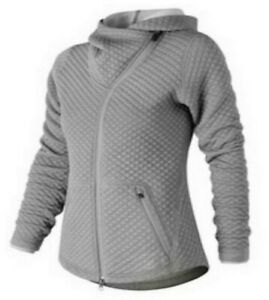 New-Balance-Women-039-s-Heat-Loft-Asymmetrical-Full-Zip-Jacket-Gray-Size-X-Small