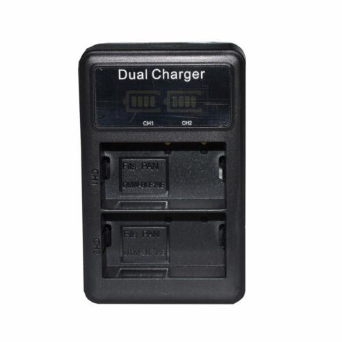 2X Batería DMW-BLF19E DMW-BLF19PP Cargador para Panasonic Lumix GH5s GH5SGN DC-G9