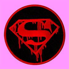 Superman Hero Logo Blood Comic Movie Cartoon Kids Embroidered Iron On Patch