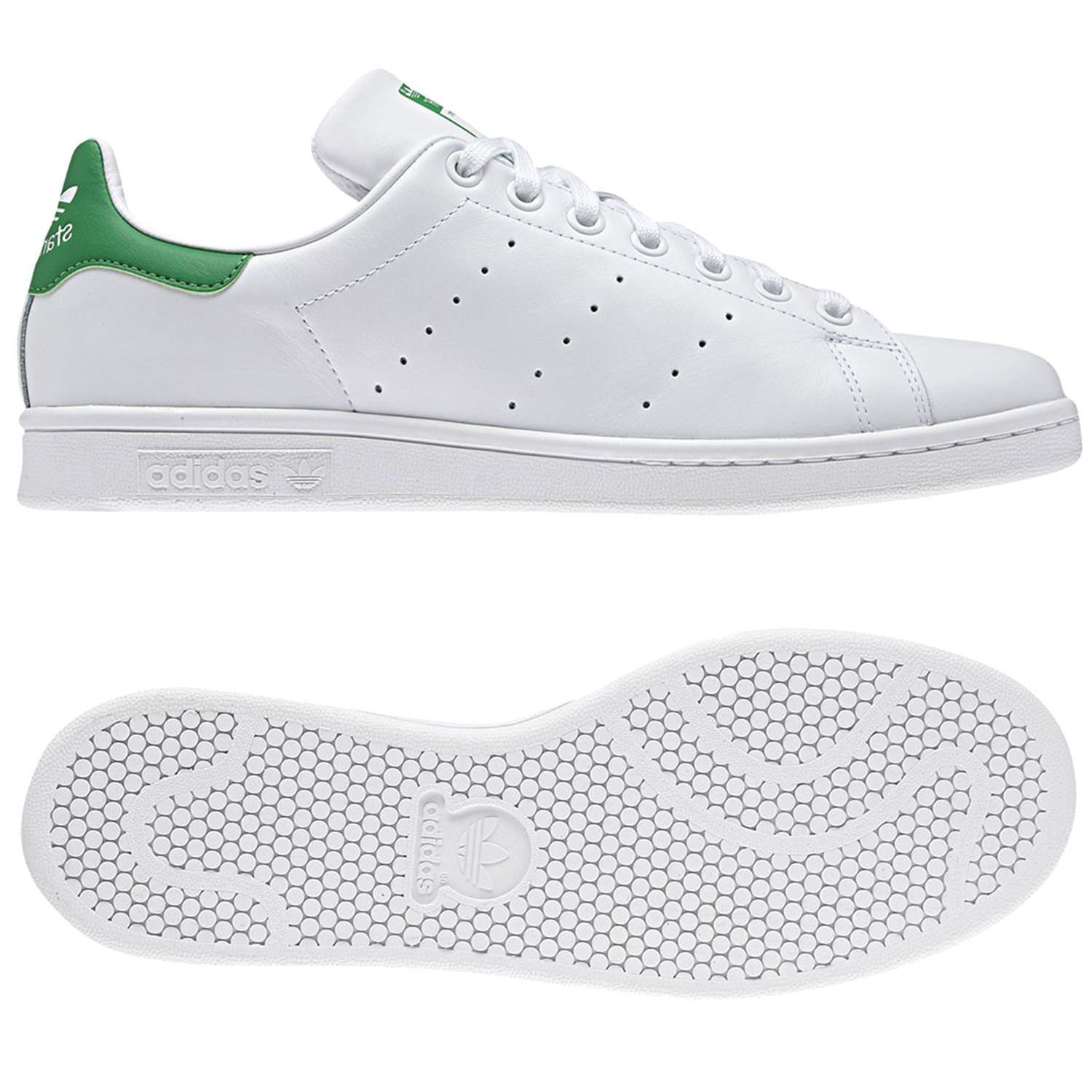 Adidas ORIGINALS MEN'S STAN SMITH WHITE GREEN SHOES SHOES SHOES LEATHER TRAINERS SNEAKERS 80b9d1