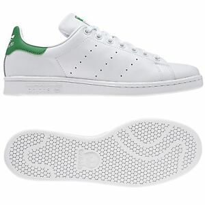 Détails sur adidas ORIGINALS MEN'S STAN SMITH WHITE GREEN SHOES LEATHER TRAINERS SNEAKERS